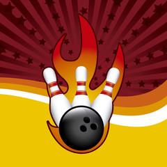 bowling grunge