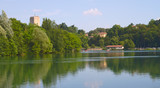 Panorama of Adda River, Trezzo - Italy