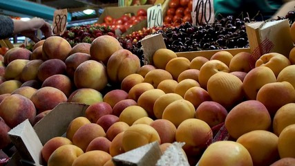 Fresh fruits in the Farmers market.