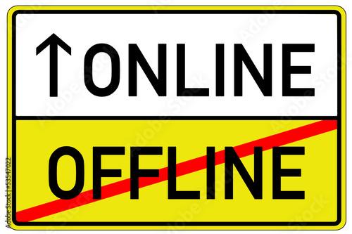 Online Offline Schild Tafel  #130621-svg03