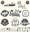 Vector Set: Retro Style Master Chef Labels and Icons - 53548020