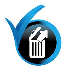 restaurer les fichiers sur bouton validé bleu