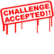 Challenge Accepted Stamp
