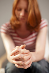 Prayer - young woman praying