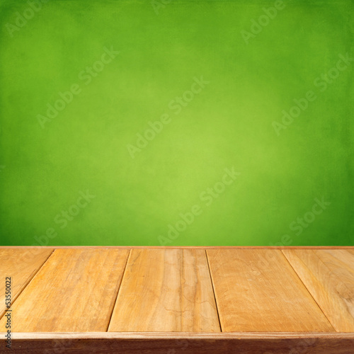 Summer background with wooden empty table