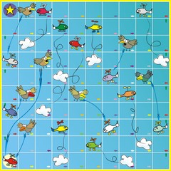 Board game - birds and planes