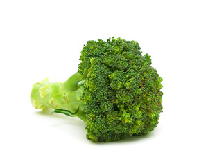 Fresh broccoli isolated on a white background close-up