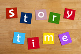 story time - display words for school children.