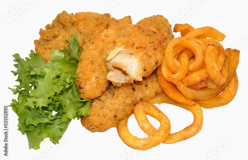 Southern Fried Chicken And Curly Fries