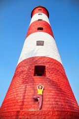 Yoga at lighthouse