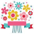 Cute vintage floral Birthday Card