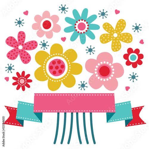 Cute vintage floral Birthday Card