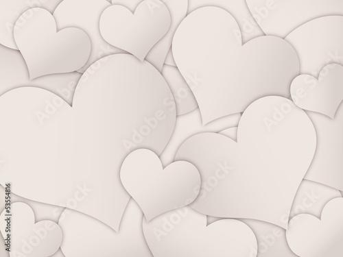 Fundo com corações de diferentes tamanhos