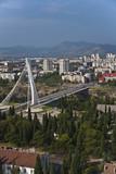 Millennium bridge over Moraca river, Podgorica, Montenegro poster