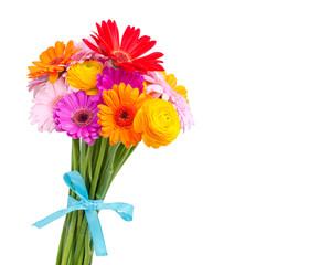 bunter Blumenstrauß als Geschenk