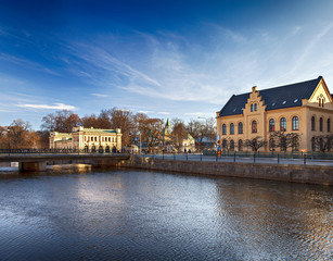 Uppsala buildings by the river