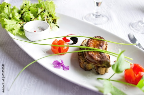 Foie gras poêlé sur toast