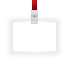 Identification card blank illustration