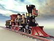 Alte amerikanische Dampflokomotive