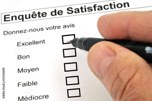 L'enquête de satisfaction