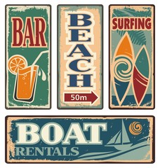 Vintage summer holiday signs