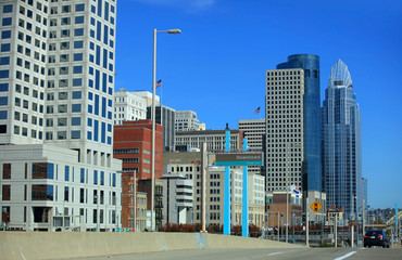 Tall buildings in downtown Cincinnati