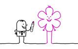 Fototapety businessman drawing a flower