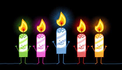 cartoon candles & lights
