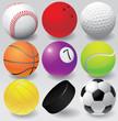 Sport balls vector  eps 8