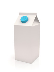 White milk or juice carton box