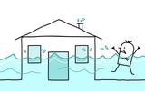 house & flood