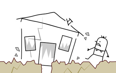 house & earthquake