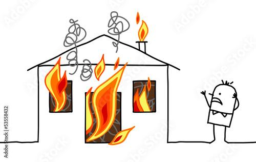house & fire