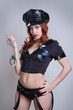 beauty sexy police woman