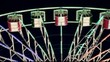 Ferris wheel in an amusement park at night