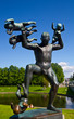 Sculptures in Vigeland park Oslo Norway