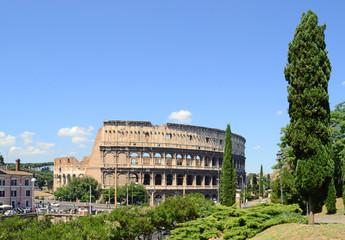 Colle Oppio - vista sul Colosseo
