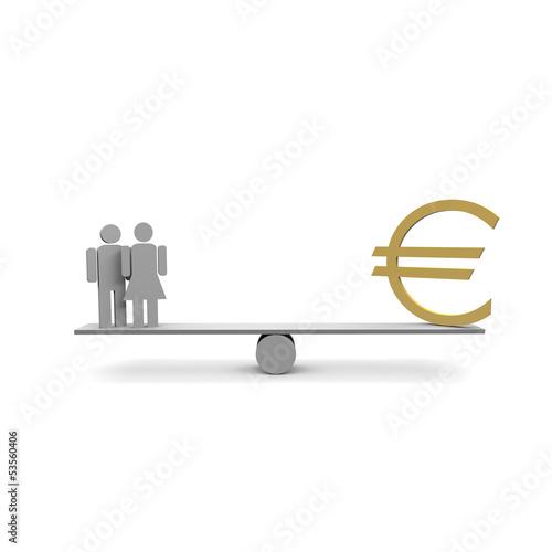 ehe, paar, lebensgemeinschaft, euro,