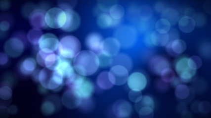 Defocused flickering lights