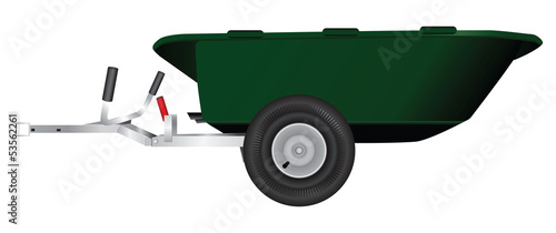 Wheelbarrow trailer
