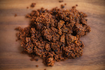 Molasses brown sugar from sugarcane