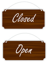 board open, closed