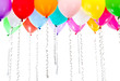 color balloons with streamers on birthday party