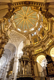 Interior shot of Granada Cathedral, Granada, Spain