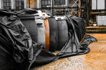 Several barrels