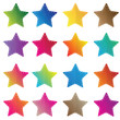 Illustration of colorful stars Icon isolated on white background