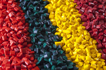 colorful plastic masterbatch polymer granules