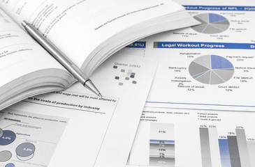 financial charts and graph