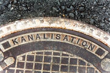 Deckel zur Kanalisation