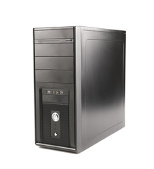computer system unit on a white background